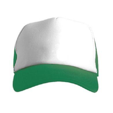 Цвет Зеленый+белый, Кепки-тракеры - FatLine