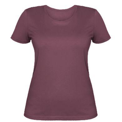 Цвет Бордовый, Женские футболки - FatLine