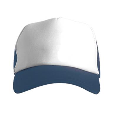 Цвет Темно-синий+белый, Кепки-тракеры - FatLine
