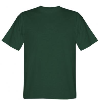 Цвет Темно-зеленый, Мужские футболки - FatLine