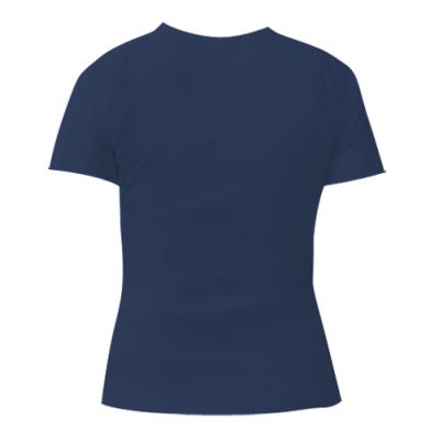 Цвет Темно-синий, Женские футболки - FatLine