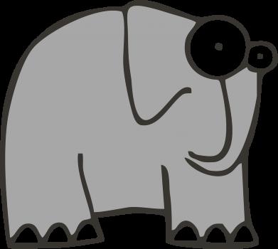 Принт Женская футболка поло удивленный слон - FatLine