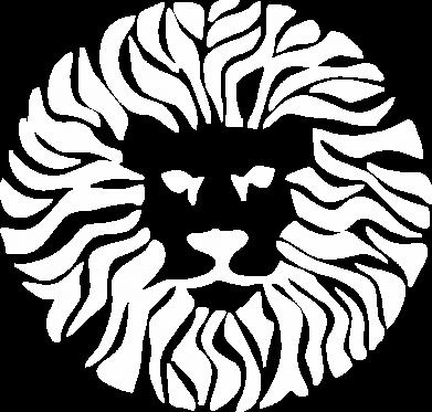 Принт Мужская толстовка на молнии лев - FatLine