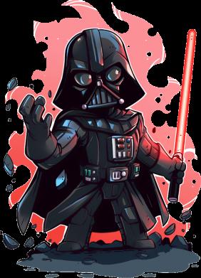 Принт Женская футболка с V-образным вырезом Darth Vader Force - FatLine
