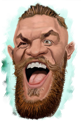 Принт Футболка Conor McGregor Art - FatLine