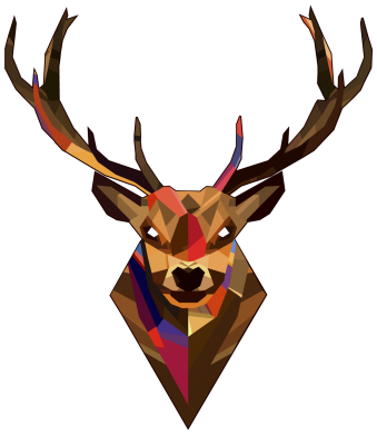 ����� ������� ��������� Colorful deer - FatLine