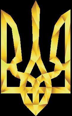 Принт Мужская толстовка на молнии Золотий герб - FatLine