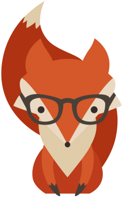 Принт Футболка Fox in glasses - FatLine
