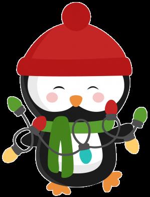 Принт Детская футболка Пингвин с гирляндой - FatLine