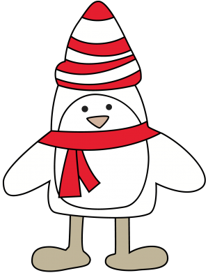 Принт Майка-тельняшка Penguin in the hat and scarf - FatLine
