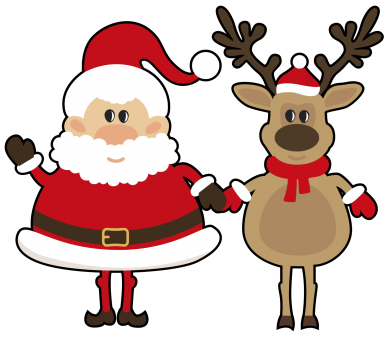 ����� ������� �������� ���� Santa Claus and reindeer - FatLine