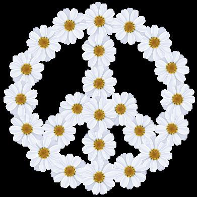 Принт Мужские шорты Знак мира из ромашек - FatLine