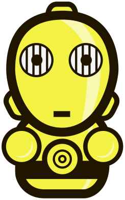 Принт Мужская толстовка Sweet C-3PO - FatLine