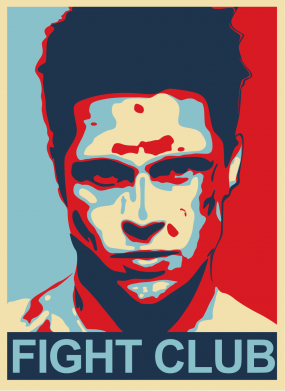 Принт Подушка Fight Club Tyler Durden - FatLine
