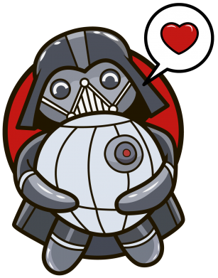 ����� ������ Darth Vader love Death Star - FatLine
