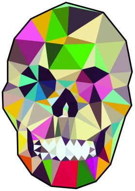 Принт Кепка Colorful Skull - FatLine