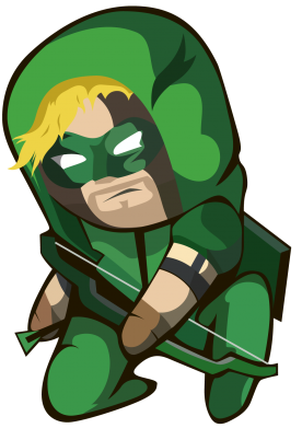 Принт Подушка Cartoon Green Arrow - FatLine