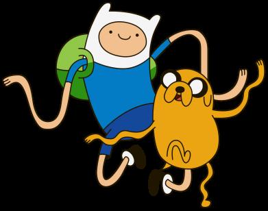 Принт Мужская футболка  с V-образным вырезом Фин и Джейк танцуют 2 - FatLine