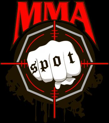 Принт Женская футболка с V-образным вырезом MMA Spot - FatLine