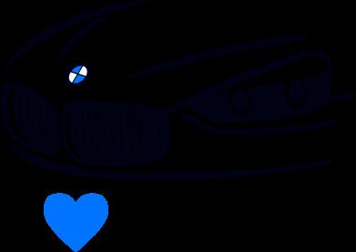 Принт Футболка с длинным рукавом I love BMW 2 - FatLine