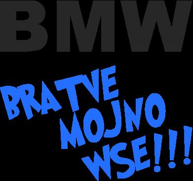 Принт Коврик для мыши BMW Bratve mojno wse!!! - FatLine