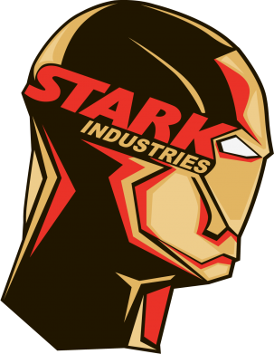 Принт Шапка Stark Industries - FatLine