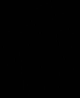 Принт Женская футболка с V-образным вырезом Symbol horde - FatLine