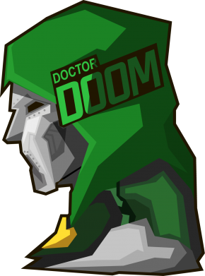 Принт Фартук Doctor Doom - FatLine