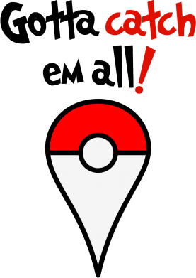 Принт Подушка Gotta catch 'em all! - FatLine