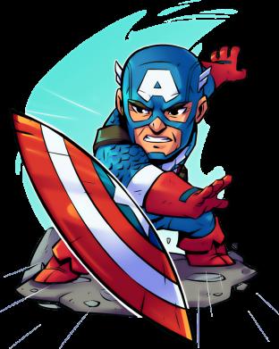 Принт Коврик для мыши Cartoon Captain America - FatLine