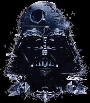 Принт Футболка с длинным рукавом Darth Vader Space - FatLine