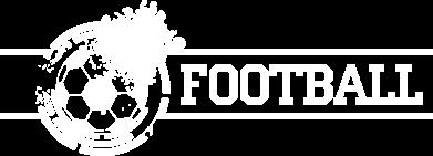 """Принт Мужская футболка  с V-образным вырезом Надпись """"Футбол"""" - FatLine"""
