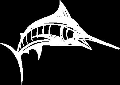 Принт Тельняшка с длинным рукавом Рыба Марлин - FatLine