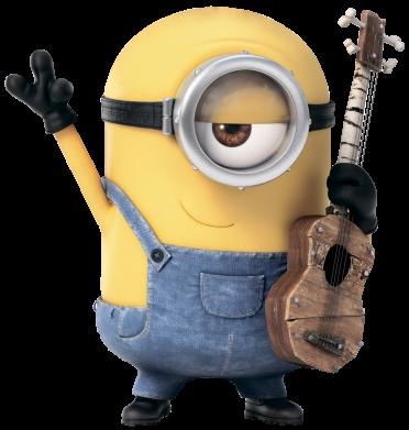 Принт Детская кепка Миньон с гитарой - FatLine