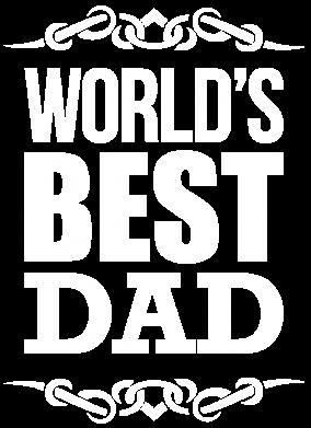Принт Футболка с длинным рукавом World's Best Dad - FatLine