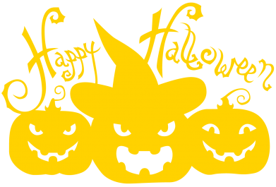 Принт Женская футболка с V-образным вырезом Cчастливого Хэллоуина - FatLine