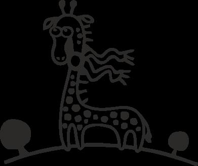 Принт Килимок для миші жираф - FatLine