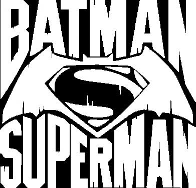 Принт Женская футболка с V-образным вырезом Бэтмен vs. Супермен - FatLine