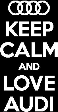 Принт Женская толстовка Keep Calm and Love Audi - FatLine