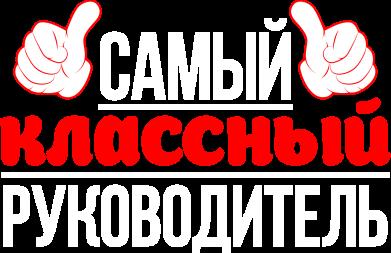 Принт Футболка Самый классный руководитель! - FatLine