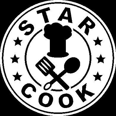 Принт Женская футболка с V-образным вырезом Star Cook - FatLine