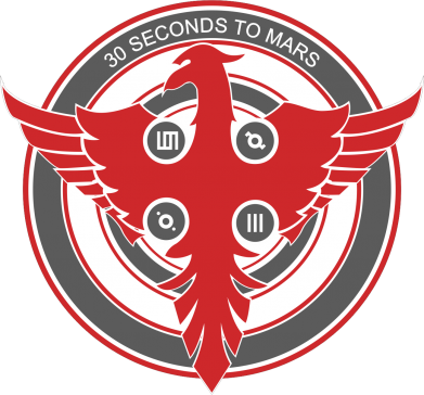 Принт Майка-тельняшка 30 seconds to mars logo - FatLine