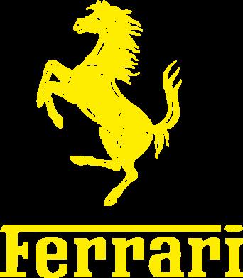 Принт Чоловічі футболки з V-подібним вирізом логотип Ferrari - FatLine