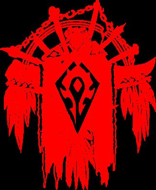 Принт Мужская толстовка на молнии Symbol horde - FatLine