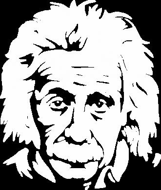 Принт Женская футболка с V-образным вырезом Энштейн - FatLine