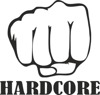 Принт Фартук hardcore - FatLine