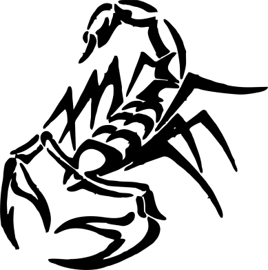 Принт Женская футболка с V-образным вырезом скорпион 2 - FatLine