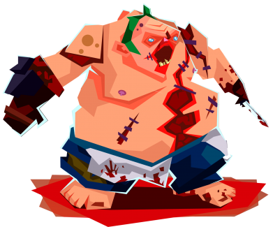 ����� ������� ��������� �� ������ Pudge Fan Art - FatLine
