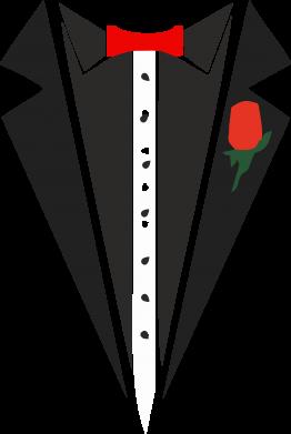 Принт Камуфляжная футболка Смокинг с бабочкой и розой - FatLine