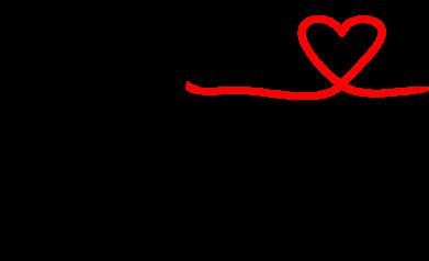 Принт Женская футболка с V-образным вырезом Любовное послание 2 - FatLine